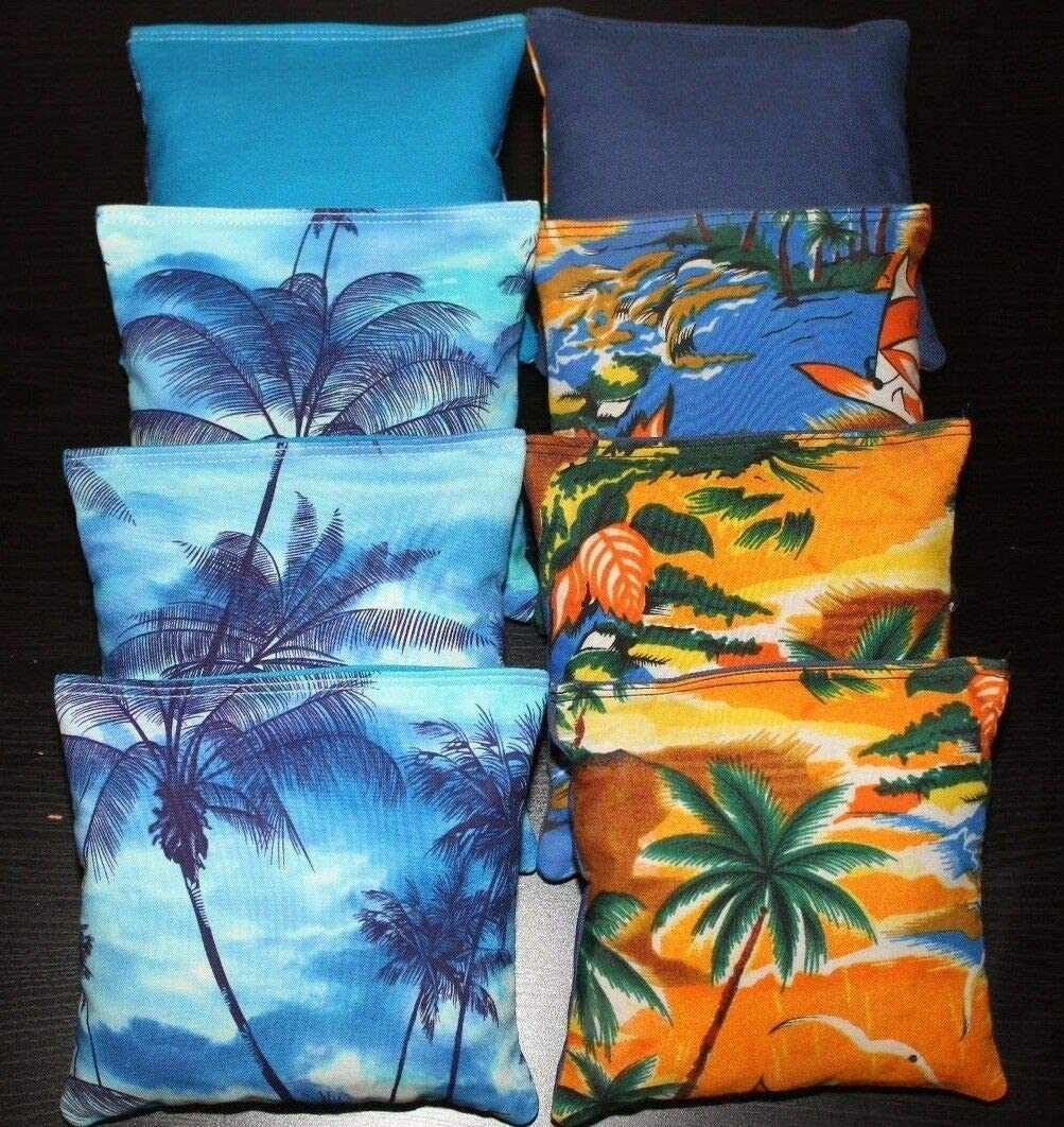 BackYardGamesUSA Tropical Island Paradise Cornhole Bean Bags ACA Regulation Margaritaville Sunset
