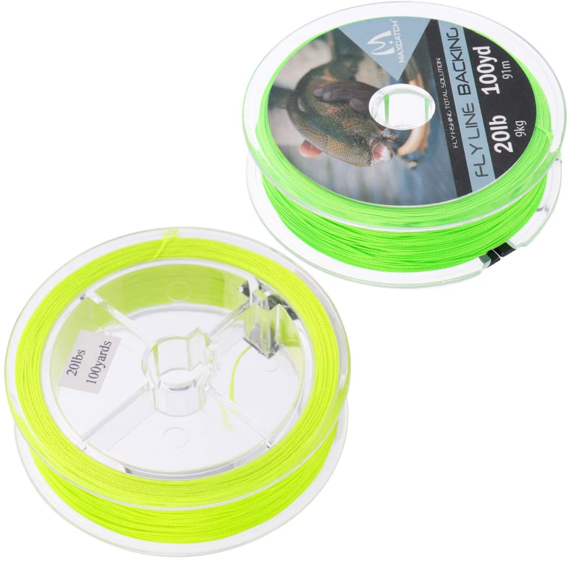 BESPORTBLE 2pcs Fly Fishing Line Fishing Floating Line Perception Line Extension for Saltwater Freshwater 100 Yard (Yellow Green)