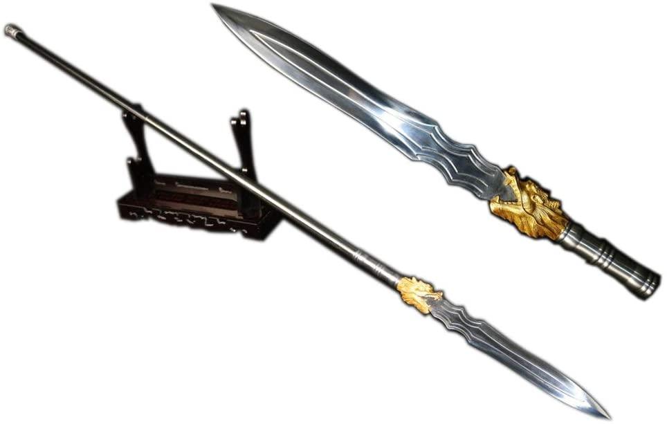 Lin sword,Dragon Spear,Handmade,High Carbon Steel Materials,Kung fu