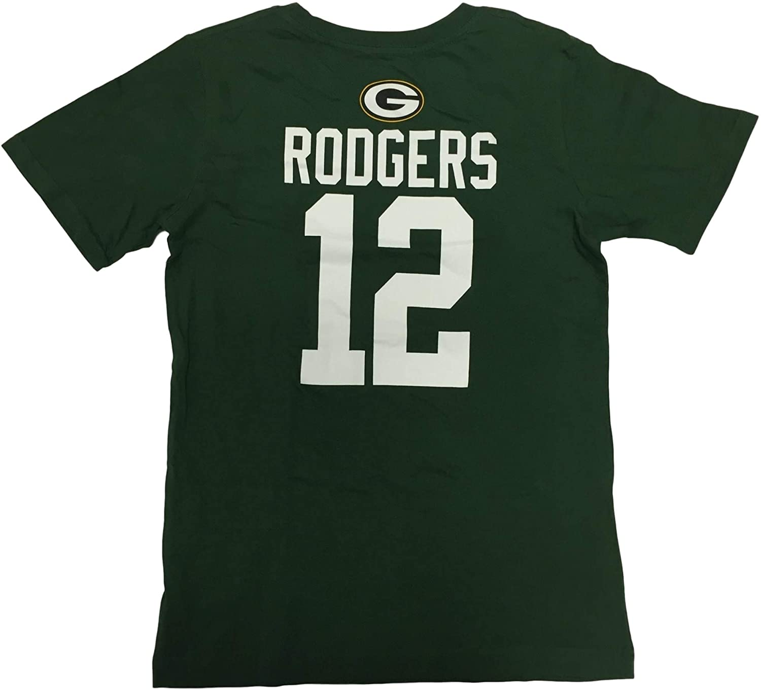 NFL Team Apparel Men's Aaron Rodgers #12 Player Name and Number Crew Neck Jersey T-Shirt