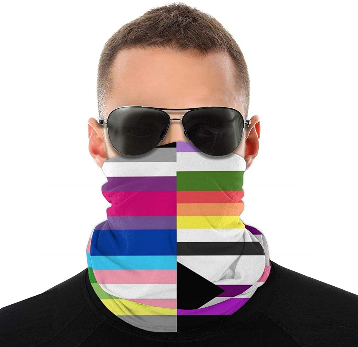 Women Men Lightweight Neck Gaiter Elastic Face Cover Scarf Sun Protection