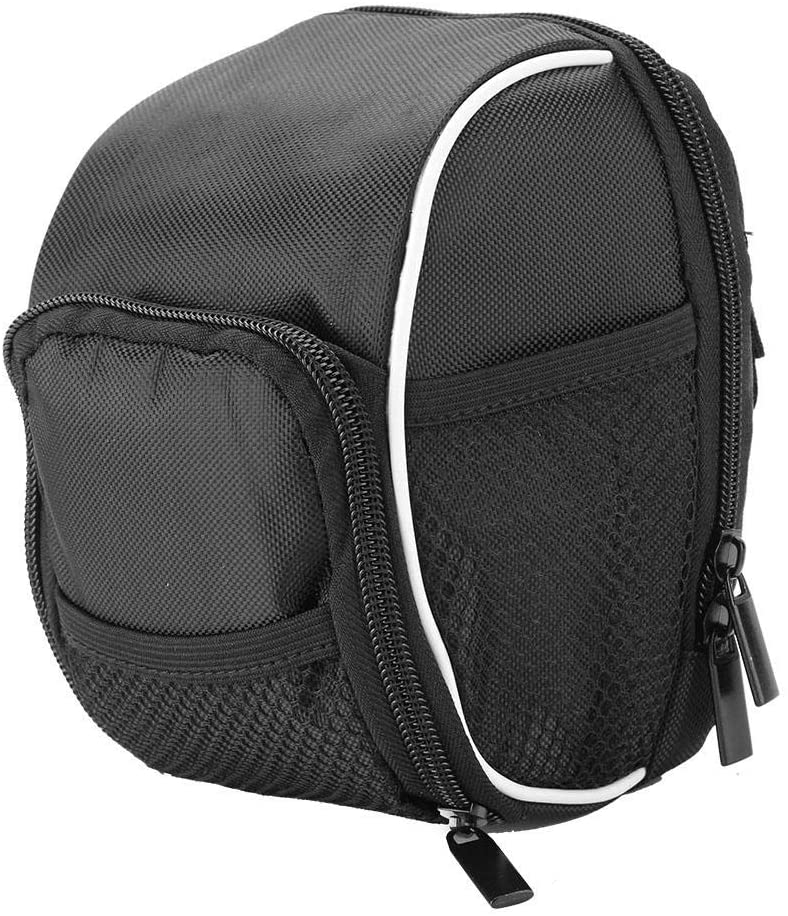 Fishlor Bike Handlebar Bag, Black Multi-Function Quick Release Bicycle Cycling Front Frame Tube Handlebar Bag Pouch