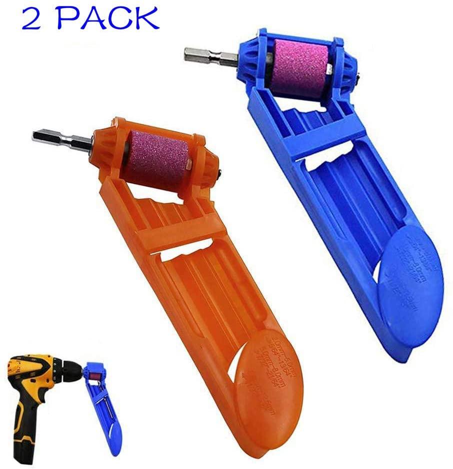 Drill Bit Sharpener Portable Diamond Drill Bit Sharpening Tool Corundum Grinding Wheel 2Pack