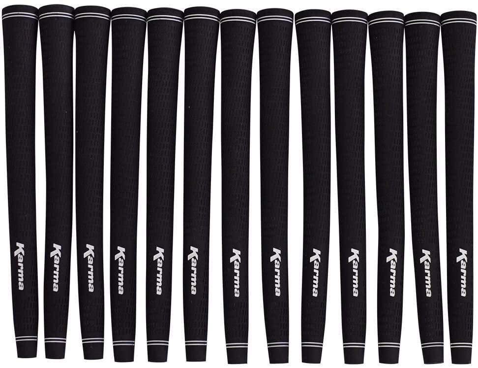 Karma 13 Piece Jumbo Golf Grips Oversize Pro Velvet Black Jumbo Grip Set Pack (+1/16
