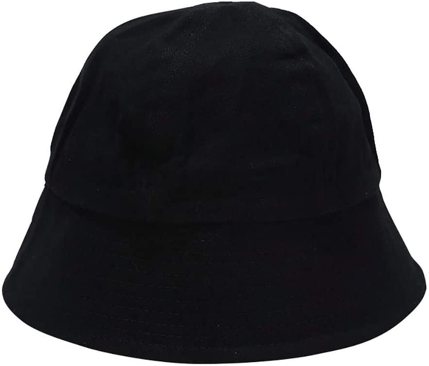 Cnebo Unisex Summer Bucket Hat Foldable Fisherman Cap Solid Color Travel Beach Sun Hat Wide Brim Outdoor Cap for Men Women