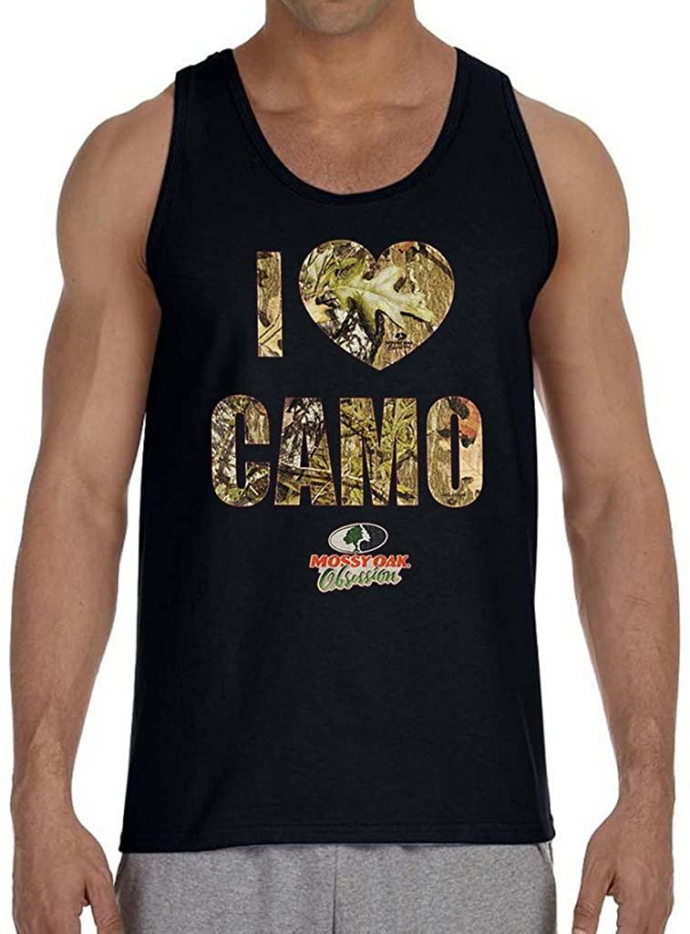 Mossy Oak I Love Camo Men's Black Tank Top Black