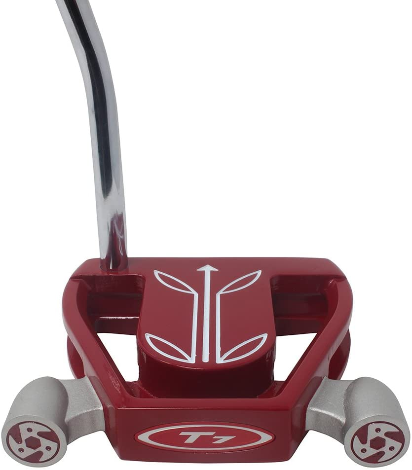 T7 Twin Engine Red Mallet Golf Putter Right Handed with Alignment Line Up Hand Tool 36 Inches XL Tall Lady Perfect for Lining up Your Putts
