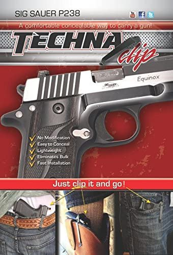 Techna Clip - Sig Sauer P238 .380 - Conceal Carry Belt Clip (Right-Side)