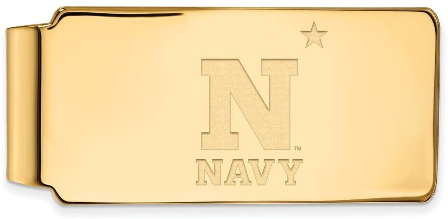 Navy Money Clip (Gold Plated)
