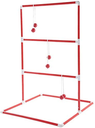 Estink- Ladder Toss,Outdoor Lawn Game Set Ladder Golf Ball Throw Toss Game Toy Set Incledes 2 x Ladders 6 x Pairs of Ladder Golf Balls Fits for Family Party