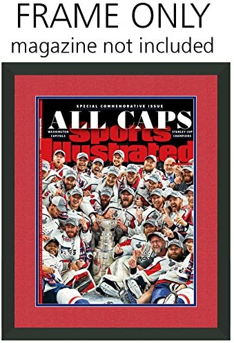 Sports Illustrated Magazine Frame - with Washington Capitals Colors Double Mat