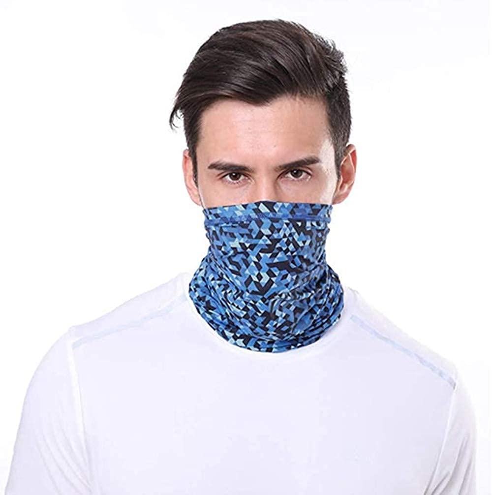 Women Men Face Mask Bandana Neck Gaiter Balaclava Headwear UV Sun Protection for Outdoors Sports Running Fishing Hiking