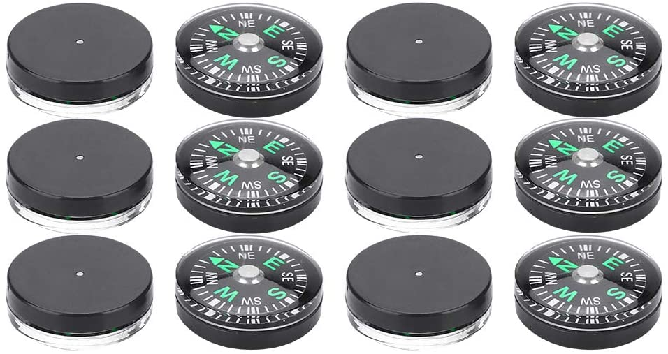 awstroe Mini Compass 12PCS Pocket Compass Stability Portable Lightweight for Camping Hiking