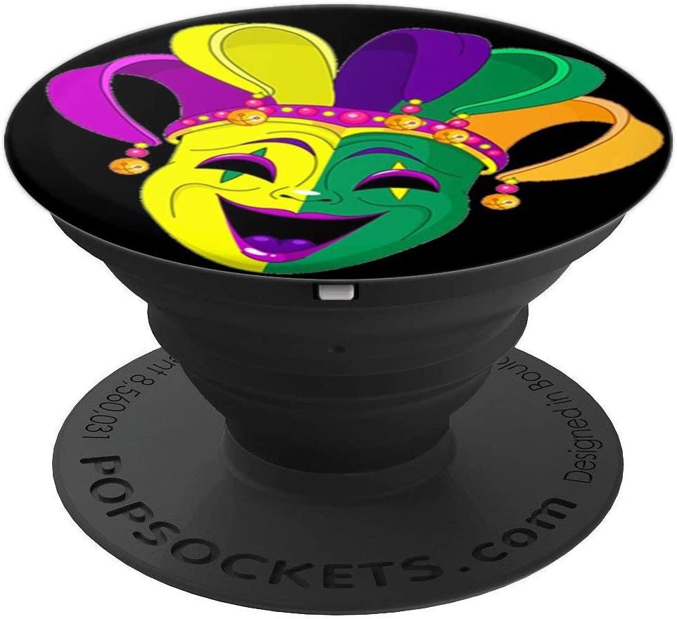 Mardi Gras pop mount socket Fleur De Lis design New Orleans PopSockets Grip and Stand for Phones and Tablets