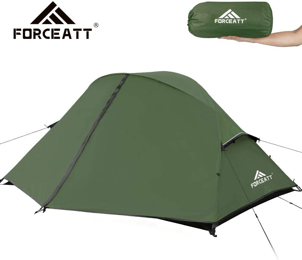 Forceatt Camping Tent 1-2 Person Portable Backpack Tent, Waterproof and Windproof Easy to Install, Suitable for Travel, Camping and Other Outdoor Sports
