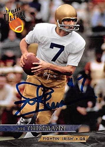 Joe Theismann autographed football card (Notre Dame Fighting Irish) 2012 Fleer Ultra #15 - Autographed College Cards