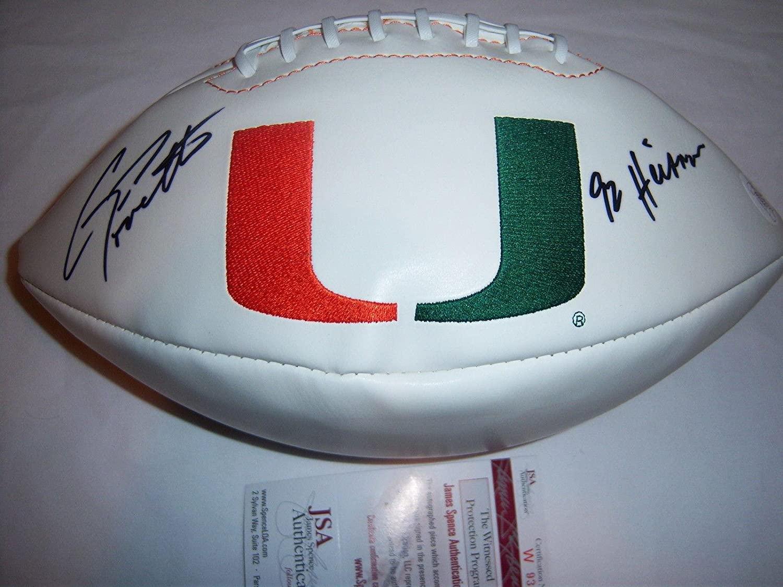 Gino Torretta Miami Hurricanes Jsa/coa Signed Football - Autographed College Footballs