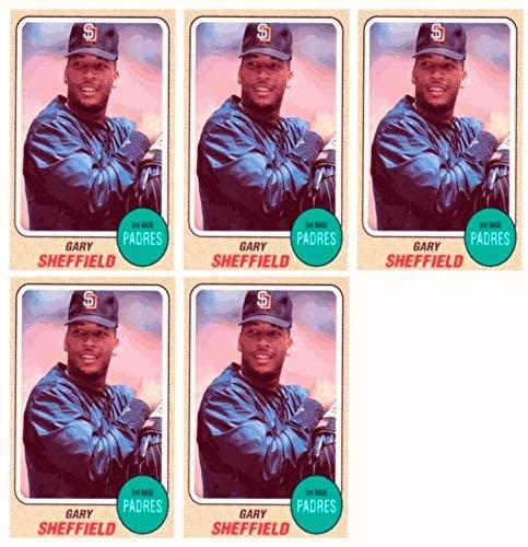 (5) 1993 Sports Cards #4 Gary Sheffield Baseball Card Lot San Diego Padres