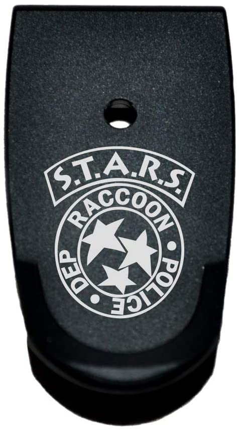 BASTION Extended Magazine Base Plate, Butt Plate for Smith & Wesson M&P 9/40 Shield SUBCOMPACT - Stars Raccoon