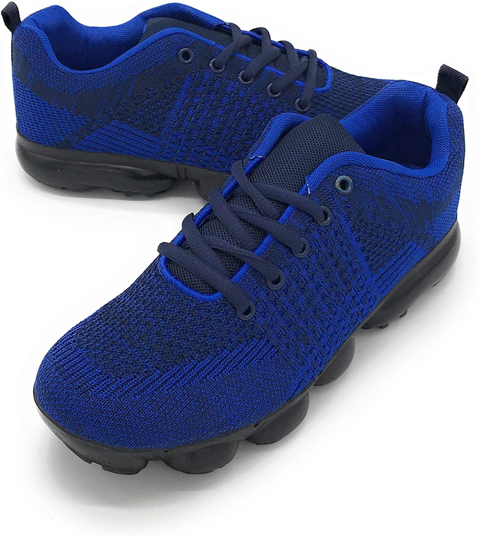 Blue Berry Women Flyknit Lightweight Walking Tennis Shoes Comfort Casual Sneakers