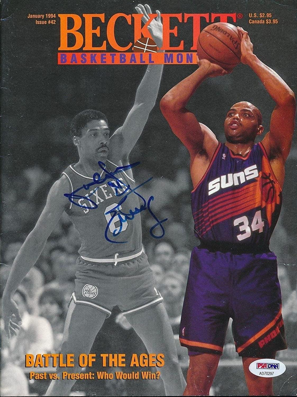 Julius Erving Signed Jan 1994 Beckett Magazine Autograph Auto PSA/DNA AD70297 - Autographed NBA Magazines