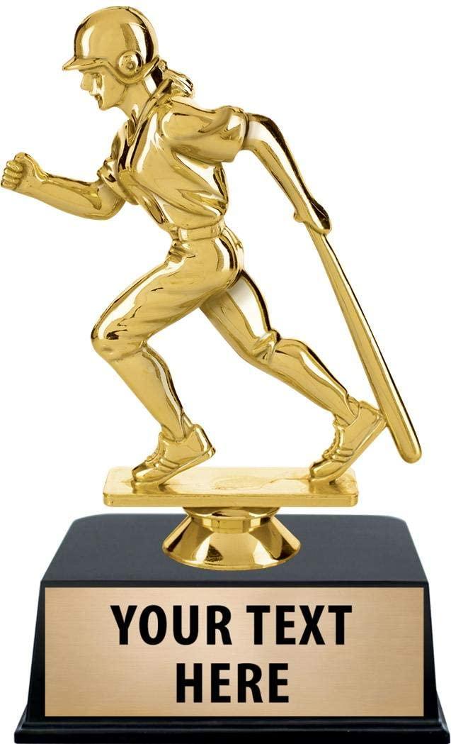 Crown Awards Girls Baseball Trophies with Custom Engraving, 6