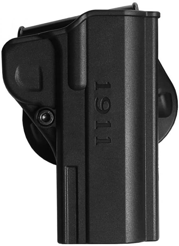 Black One Piece Paddle Holster for 1911 .45 ACP Commander Pistols (9mm/.38 Super &10mm Auto)