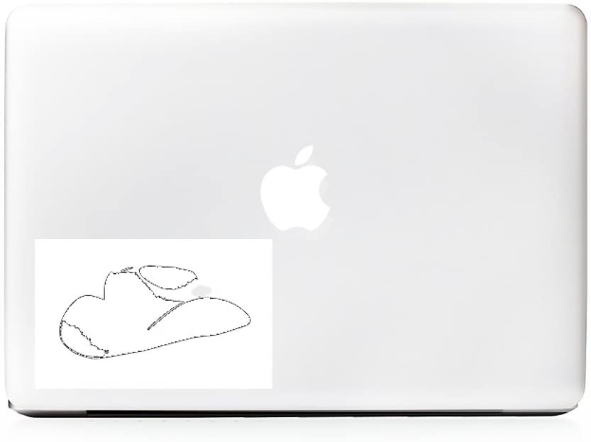 (2X) StickAny Laptop Series Cowboy Hat Sticker for MacBook Pro, Chromebook, Surface Pro, and More (White)