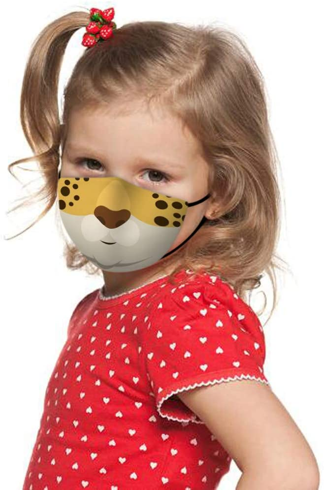Children Kids Face Bandanas with Cute Cartoon Pattern, Reusable and Breathable, 1PC Mouth Covering for Face, Indoors and Outdoors, Anti-Haze Dust, for Family Or Outdoor Activities