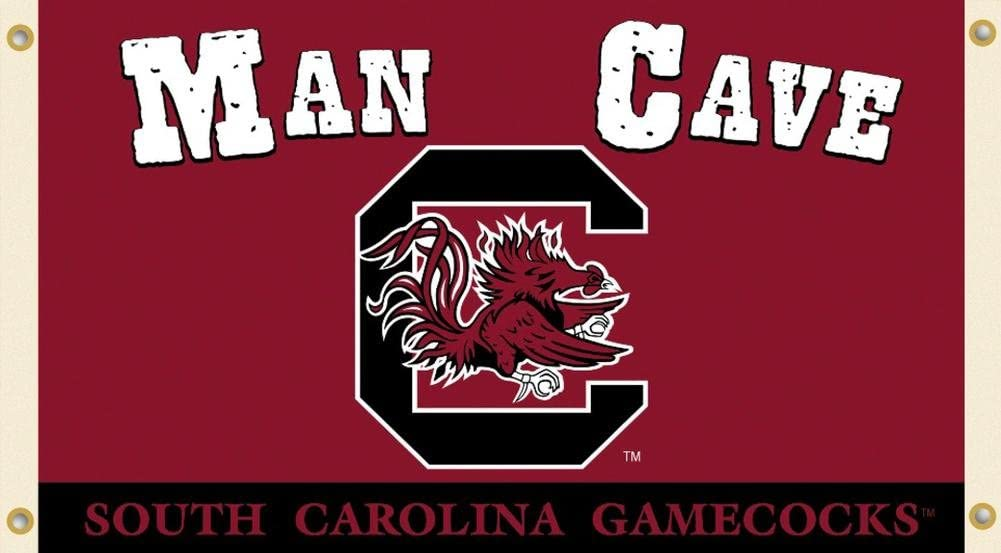 NCAA South Carolina Gamecocks Man Cave Flag with Grommets 60 x 36in