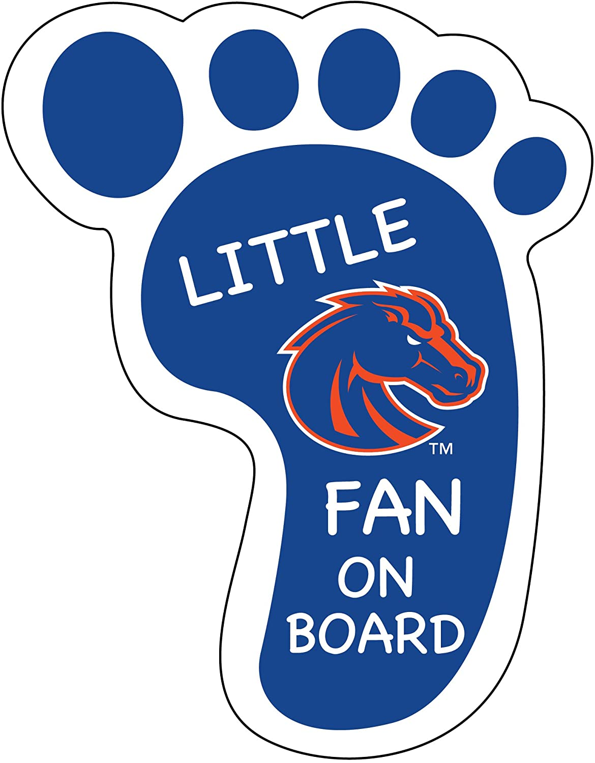 BOISE STATE BRONCOS LITTLE FAN ON BOARD DECAL STICKER-BOISE STATE UNIVERSITY PEEL AND STICK DECAL
