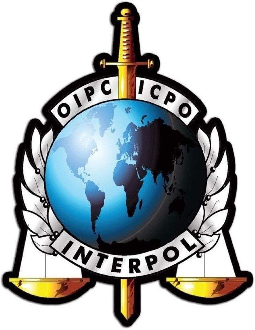 MFX Design Police Interpol Oipc Icpo Helmet Sticker Decal Laptop Sticker Decal Toolbox Sticker Decal Vinyl - Made in USA 3 in. x 2.5 in.