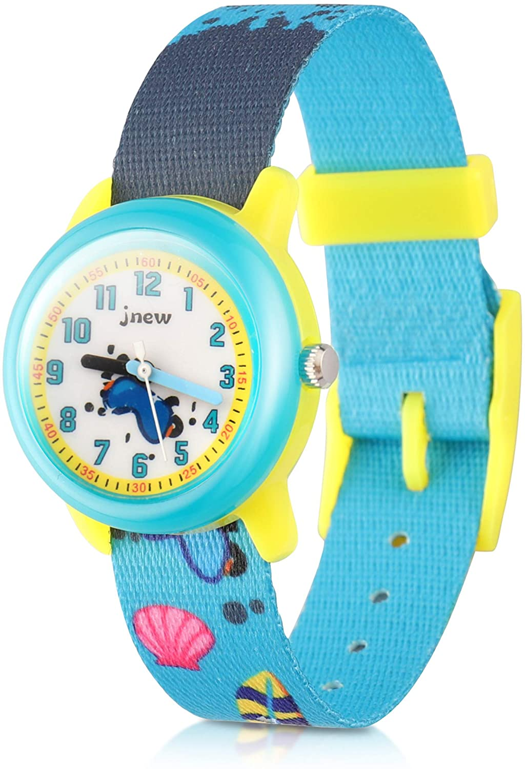 2018 New Cartoon Children's Quartz Waterproof Watch Comes with an Adjustable, Washable Stretch Braid Kids' Time Teacher