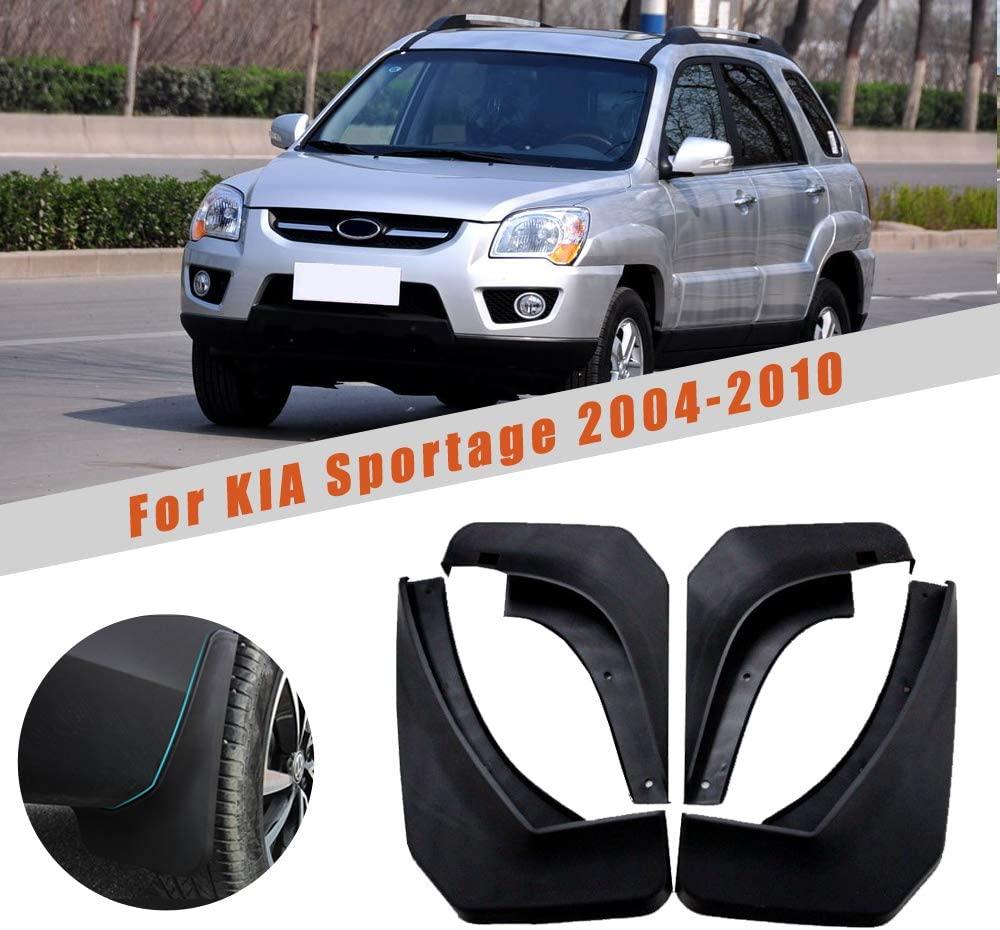 for KIA Sportage W/O Cladding 2004-2010 Car Wheel Splash Guards Mud Flaps Premium Heavy Duty Mud Guards Rally Armor Fender 4PCS