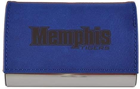 Velour Business Cardholder-University of Memphis-Blue