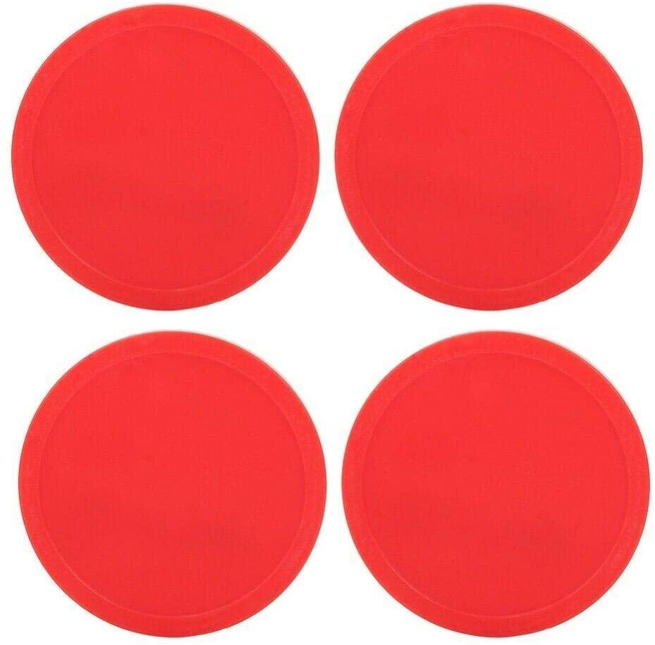 Isaa Miilne 4pcs Plastic Air Ice Hockey Pucks Piece Outdoor Indoor Children Table Game Red