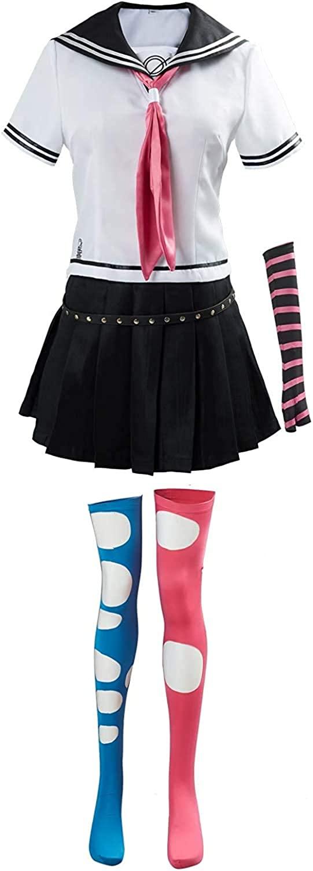 GLEST Women's Mioda Ibuki Cosplay Costume High School Uniform Shirt Skirts Halloween Outfit