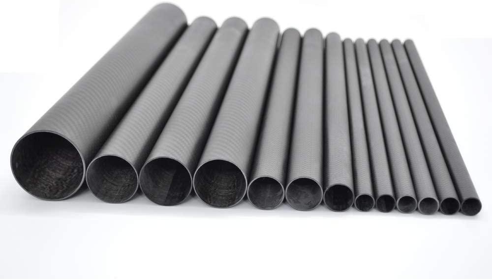 Abester ID 46mm x OD 50mm x 1000mm 3K Carbon Fiber Tube Matt Surface for Landing Gear/Tail Shaft/Wing Tube (1 Piece)