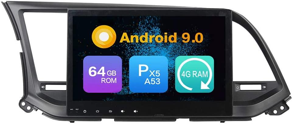 Android 9.0 Octa Core 4G Ram 64GB ROM Autoradio GPS Navigation Steering Wheel Control Multimedia Player Headunit Stereo Mirror Link WiFi (Carplay/DSP-Optional) Bluetooth for Hyundai Elantra 2016