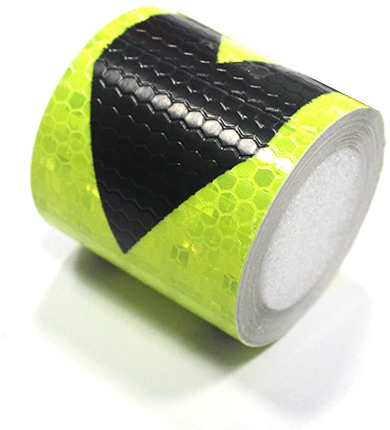 Muchkey Green-Black Honeycomb Arrow Sticker reflective tape Reflective Conspicuity Safety Warning lighting Tape Strip for car/trailers/truck/traffic/Construction site 5cmx5m(2