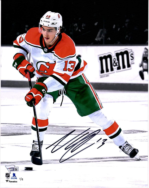 Nico Hischier New Jersey Devils Autographed 11