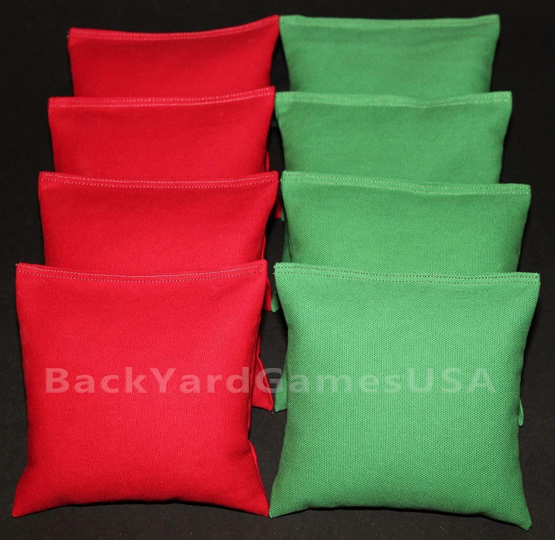 Cornhole Bean Bags Red & Green 8 Aca Regulation Corn Hole Toss Bags Top Quality!