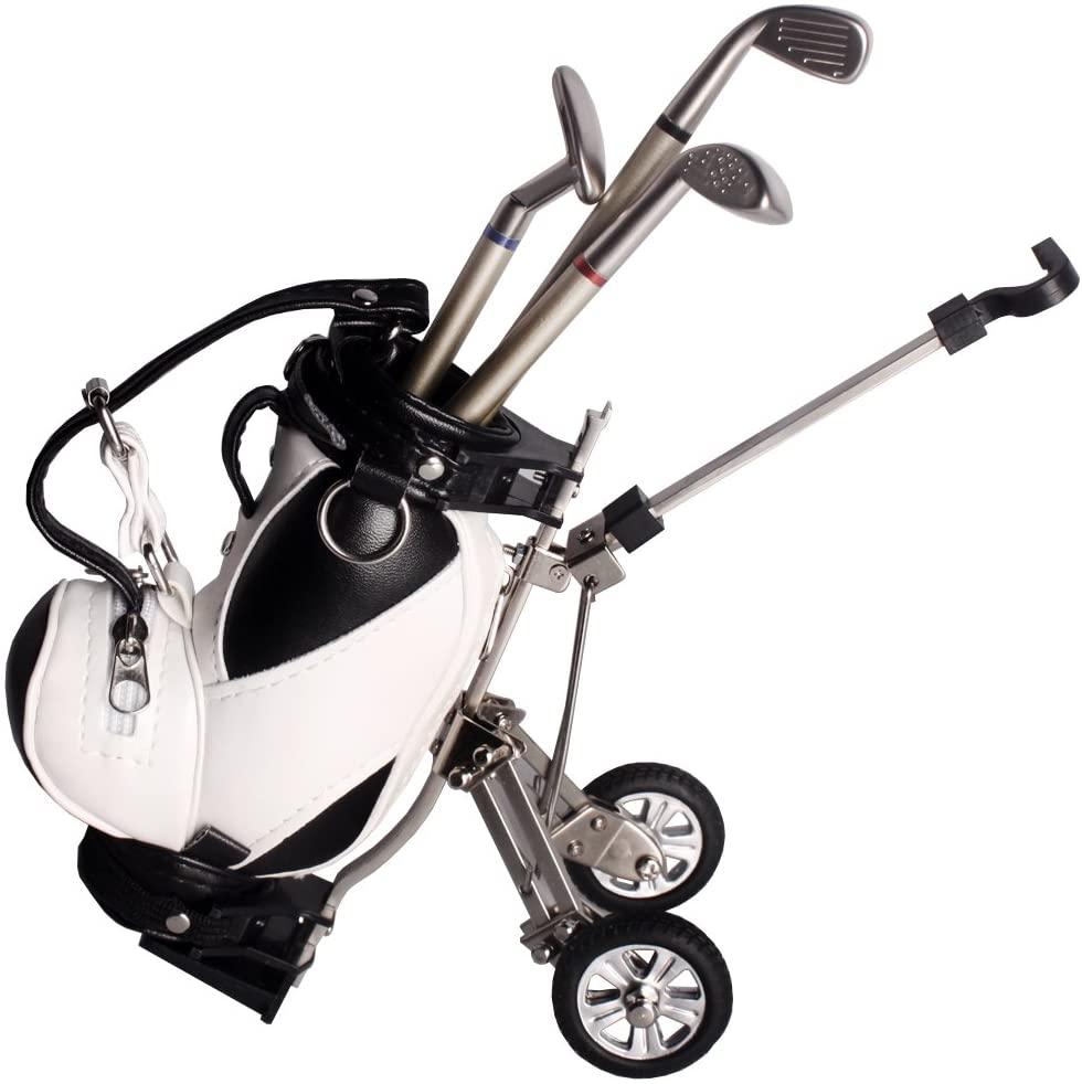 Andux Golf Pens Bag Mini Golf Caddy Cart Holder with 3 Pens GEFBT-01