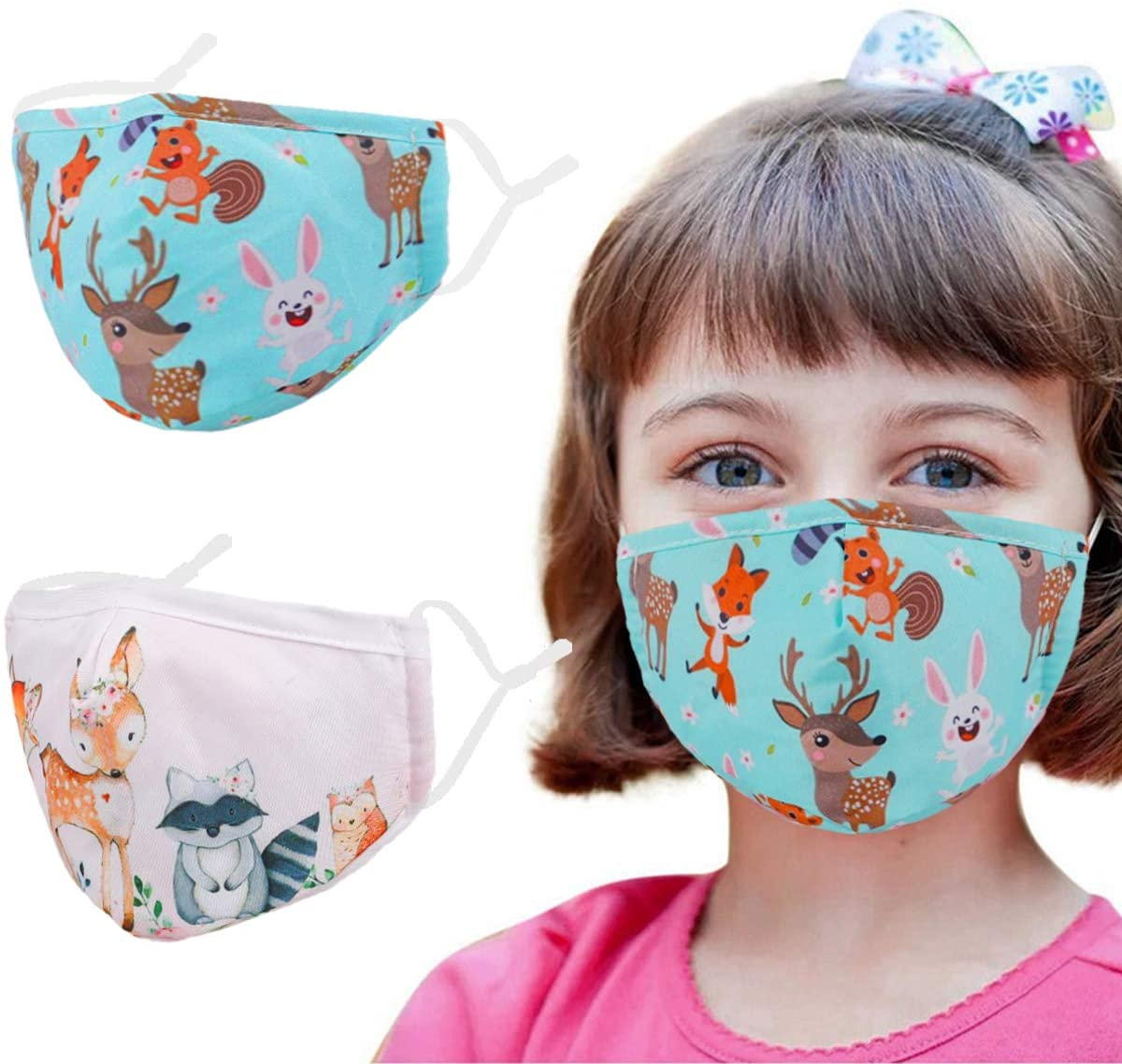Enjoy Holiday 1981 Kids Cute Face Mask with Adjustable Ear Loops, Washable Reusable Mask for Protection
