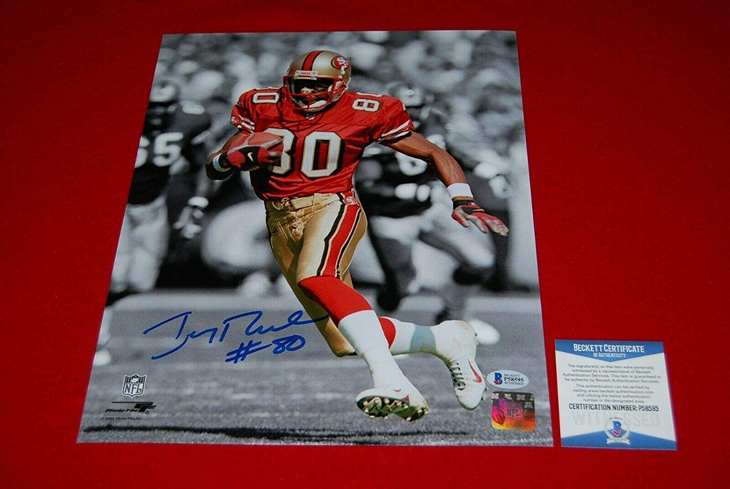 JERRY RICE san francisco 49ers signed autographed 11x14 photo Beckett COA 2 - Autographed NFL Photos