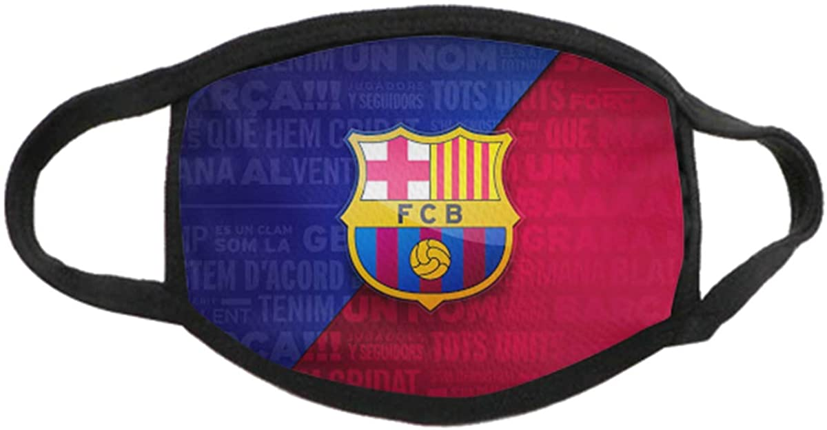 diqiuzhiyan Football Team Logo Adult Face Shield Resuable Bandanas Anti-Dust Protection Unisex
