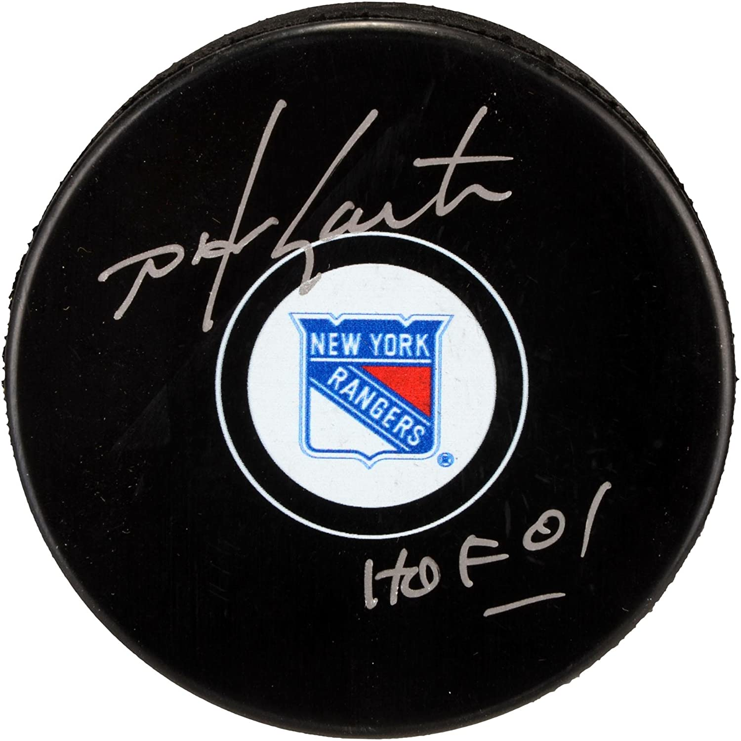 Mike Gartner New York Rangers Autographed Hockey Puck with