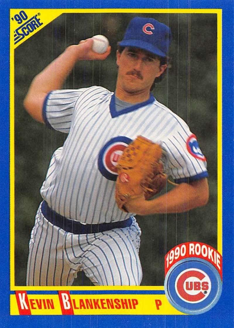 1990 Score #646 Kevin Blankenship Cubs