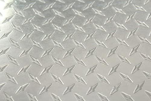 Rwraps Metal Vinyl Film Sheet Roll Wrap Decal- Diamond Plate 24
