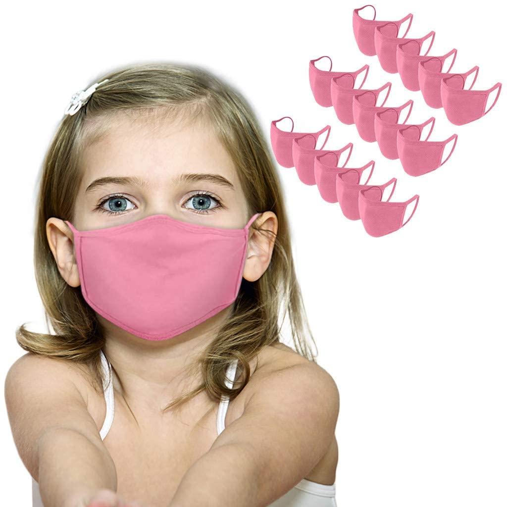 Kids Face Mask Reusable Cute Breathable Washable Multicolor Cloth Face Mask Set